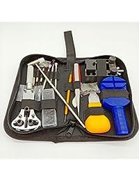 Adomi 時計修理工具セット 腕時計 バンド調整 ベルト調整  バネ棒外し 電池交換裏蓋開け工具 147点セット 収納ケース付き 精密ドライバー
