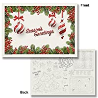Holiday Ornaments Paper Placemats - 10x14 (75) [並行輸入品]