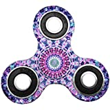 Kirinstores(TM)3D Fidget Spinnerハンドトライアングルフィンガースピナーカラフルなおもちゃ マンダラ (マンダラパープル(Mandalas Purple))