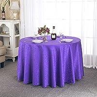 ZWL テーブルクロステーブルクロスホテルテーブルクロスヨーロピアンスタイルレストラン円形ラウンドテーブル正方形テーブルテーブルクロス 、キッチンに活力を与える ( 色 : パープル ぱ゜ぷる , サイズ さいず : D160cm )