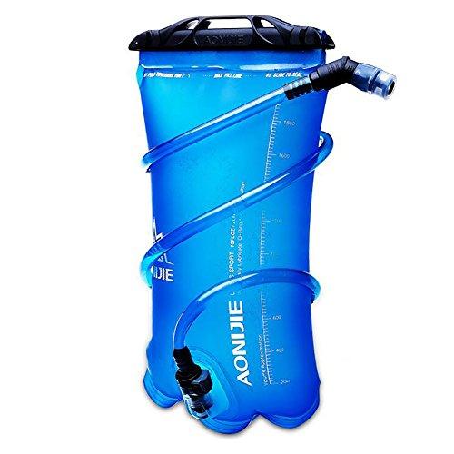 AONIJIE ハイドレーション 水分補給 無臭 ハイキング 登山 サイクリング 1.5L 2L 3L (ブルー, 1.5L)
