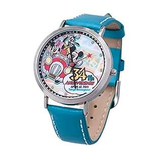ディズニー ランド 34周年 2017 ウォッチ 腕 時計 (ケース付き) ミッキー ミニー グーフィー ( ランド限定 )