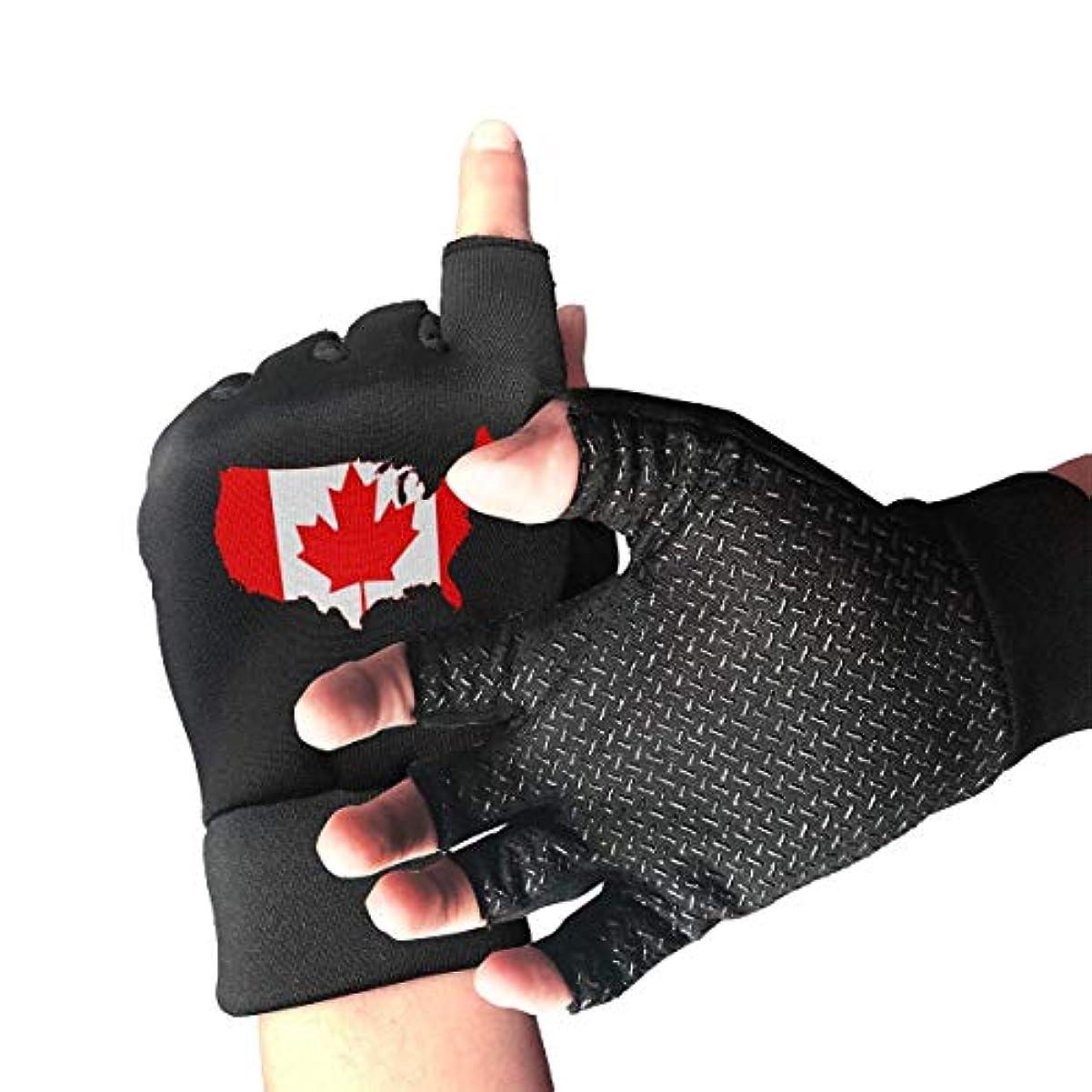 曲黒くする浮浪者Us and Canada Map指なし/半指用手袋バイク用手袋/サイクリングマウンテン用手袋/滑り止め衝撃吸収性通気性メンズ/レディース手袋