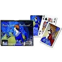 Piatnik - Jeu de cartes - Coffret de 2 x 55 cartes : Paris la nuit