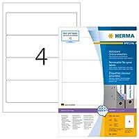 HERMA 10141取り外し可能なファイルラベルA4 192x61 mm白可動/取り外し可能紙マット不透明400個。
