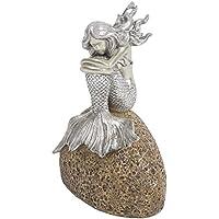 Mermaid on Rock Statue inシルバー