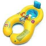 親子 浮き輪 2人用うきわ 足入れ PVC素材 強い浮力 海 プール 海水浴 水遊び