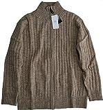 ウール ZIP セーター Piercci ITALY(ピエルッチ)ベージュ L (胸囲96~104 身長175~185)