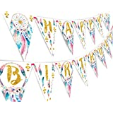 Boho Happy Birthday Banner Pennant - Wild One Party Banner