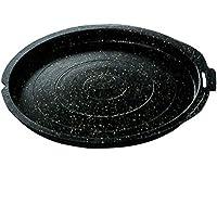 韓国 なべ 5-1006-5 アップル焼肉鍋 黒 ( ブラック ) 34.5x33x4.2cm アルミ 雑貨 インテリア おしゃれ 5-1006-5 1個1個
