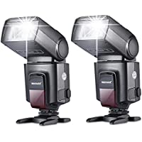 NEEWER カメラ/一眼レンズカメラ用 TT560 フラッシュ・スピードライト Canon Nikon Panasonic Olympus Fujifilm Pentax Sigma Minolta LeicaなどのDSLRカメラに対応 単一接点ホットシュー付きのデジタルカメラに対応 2個セット 【並行輸入品】