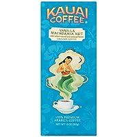 Kauai Coffee, Vanilla Macadamia Nut, Ground Coffee, 10oz Bag (Pack of 2)
