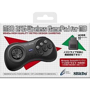 8BitDo M30 2.4G Wireless GamePad for MD ブラック 【メガドライブ/SWITCH(有線)用コントローラー】 - Switch