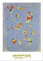 Bleu De Ciel、1940by Wassily Kandinsky 31X 24アートプリントポスター
