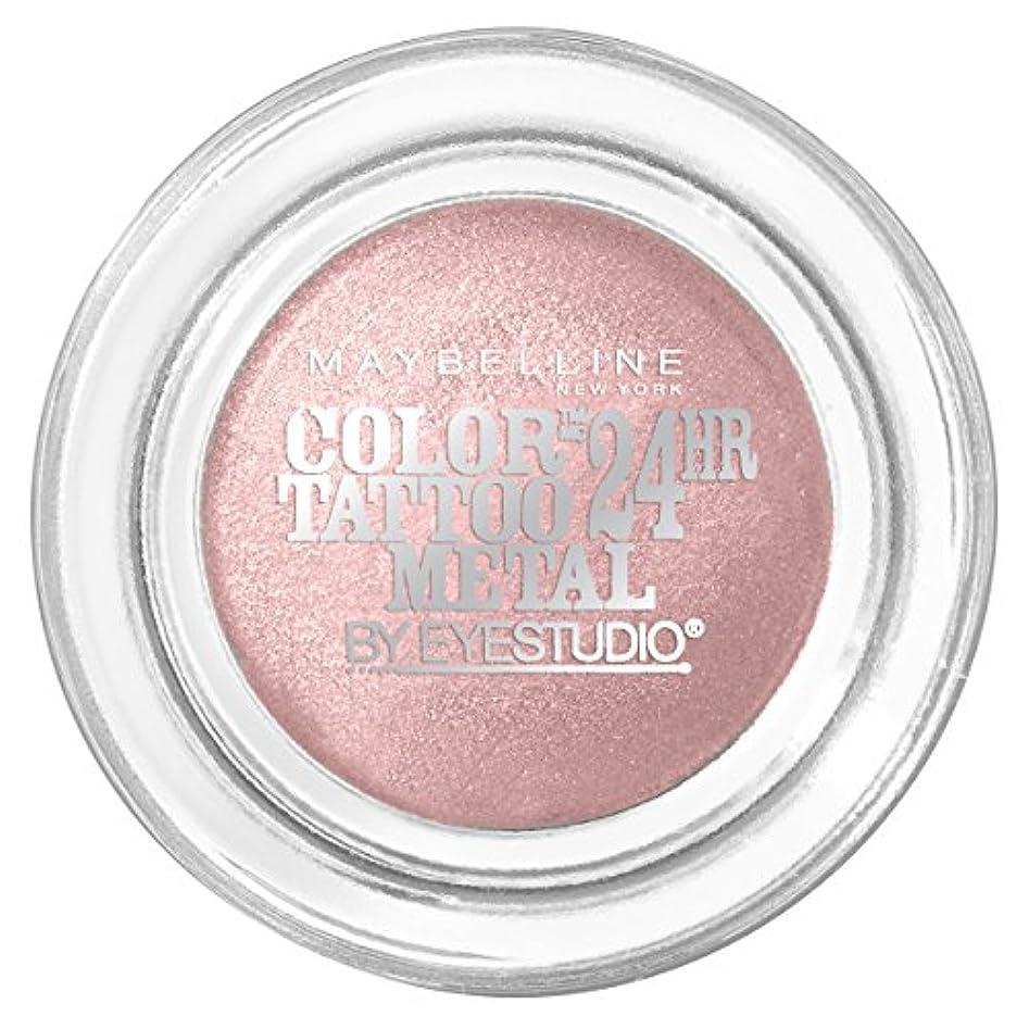 定義する義務的バイアスMAYBELLINE Eye Studio Color Tatoo Metal 24Hr Cream Gel Eye Shadow - Inked In Pink (並行輸入品)
