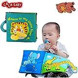 Lalababy Tigerファブリックアクティビティソフトベビーブック、ハンドメイド教育赤ちゃんのおもちゃ0–3歳