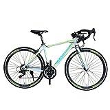 TRINX(トリンクス) 【ロードバイク】 入門用 補助ブレーキ付き Shimano21速 エントリーモデル700C 軽量 アルミフレーム TEMPO-17 TEMPO-17 ホワイト/グリーン 460mm