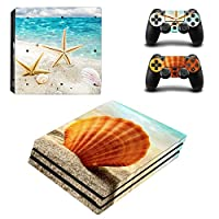 Zhhlaixing ステッカー Vinyl Decal Cover for PlayStatio PS4 Pro Console+Controllers ZY0091#