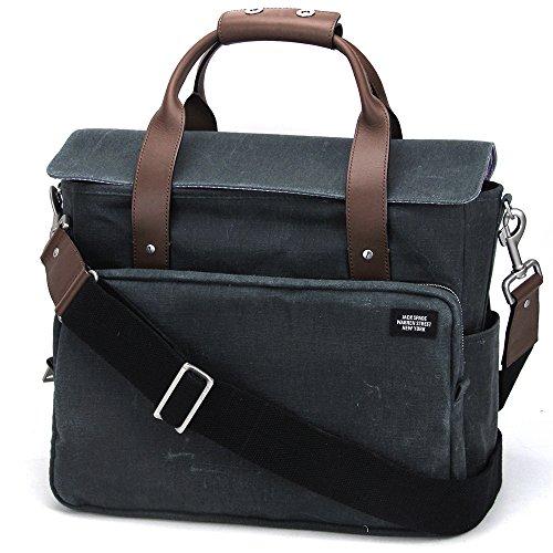 (ジャックスペード) JACK SPADE Survey Bag NYRU1532 031 ハンドバッグ メンズ slate グリーン 2WAY ショルダー [並行輸入品]