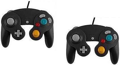 (ギャレティー)gualety ゲームキューブコントローラー 2個セット ブラック 互換品 GAMECUBE/Wii用