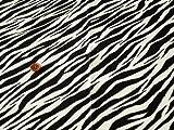 【期間限定 値下げセール】50cm単位 生地 布 綿 ツイル アニマル毛皮模様 [在庫共有品] (37A(ゼブラ柄)) [並行輸入品]