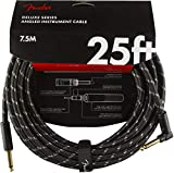 Fender シールドケーブル Deluxe Series Instrument Cable, Straight/Angle, 25', Black Tweed 08