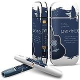iQOS 2.4 plus 専用スキンシール COMPLETE アイコス 全面セット サイド ボタン スマコレ チャージャー カバー ケース デコ その他 ギター 英語 文字 006261