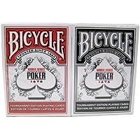 自転車WSOPプラスチックコーティングされたトランプ - 2デッキポーカーサイズレギュラーインデックスレッド/ブラック Bicycle WSOP Plastic Coated Playing Cards - 2 Decks Poker Size Regular Index Red/Black