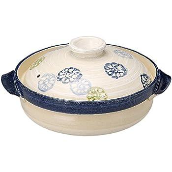 萬古焼 軽量強化 炊きじょうず (吹きこぼれにくい) 土鍋 8号 25cm れんこん 14945