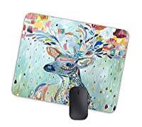 芸術的サイケデリック鹿動物マウスパッド水彩図動物マウスパッド