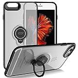 Best iphone 6カーホルダー - iPhone 6s Plus/6 Plus対応クリスタル携帯ケース、リングホルダー付きキックスタンド機能、iPhone 6s プラス/6 プラス対応リングホルダーグリップスマホケース超薄型ハードカバー (透明) Review
