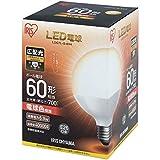 アイリスオーヤマ LEDボール球 口金直径26mm 60W形相当 電球色 広配光タイプ 密閉器具対応 LDG7L-G-6V4