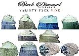BLACK DIAMOND PIGMENTS ゴーストシリーズバラエティパック9(10色)マイカパウダー(エポキシ、スライム、カラー、アート)