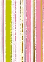 ポスター ウォールステッカー シール式ステッカー 飾り 148×210㎜ A5 写真 フォト 壁 インテリア おしゃれ 剥がせる wall sticker poster pa5wsxxxxx-004821-ds ラブリー チェック・ボーダー 模様 ピンク