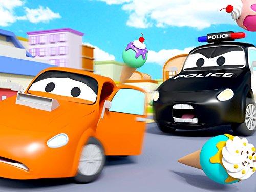 アイスクリーム泥棒&粘りっこい泥そして, 消防車とパトカーのカーパトロール|子供向けのカー&トラックアニメ