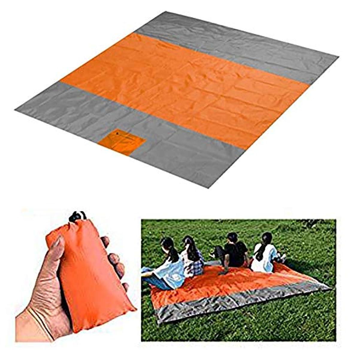 ダイバー賞賛不快なピクニックマット 軽量 厚手 折りたたみ 折り畳み式屋外用コンパクトポケットサンドプルーフビーチブランケット、ビーチ用、旅行、ハイキング、キャンプ、洗える