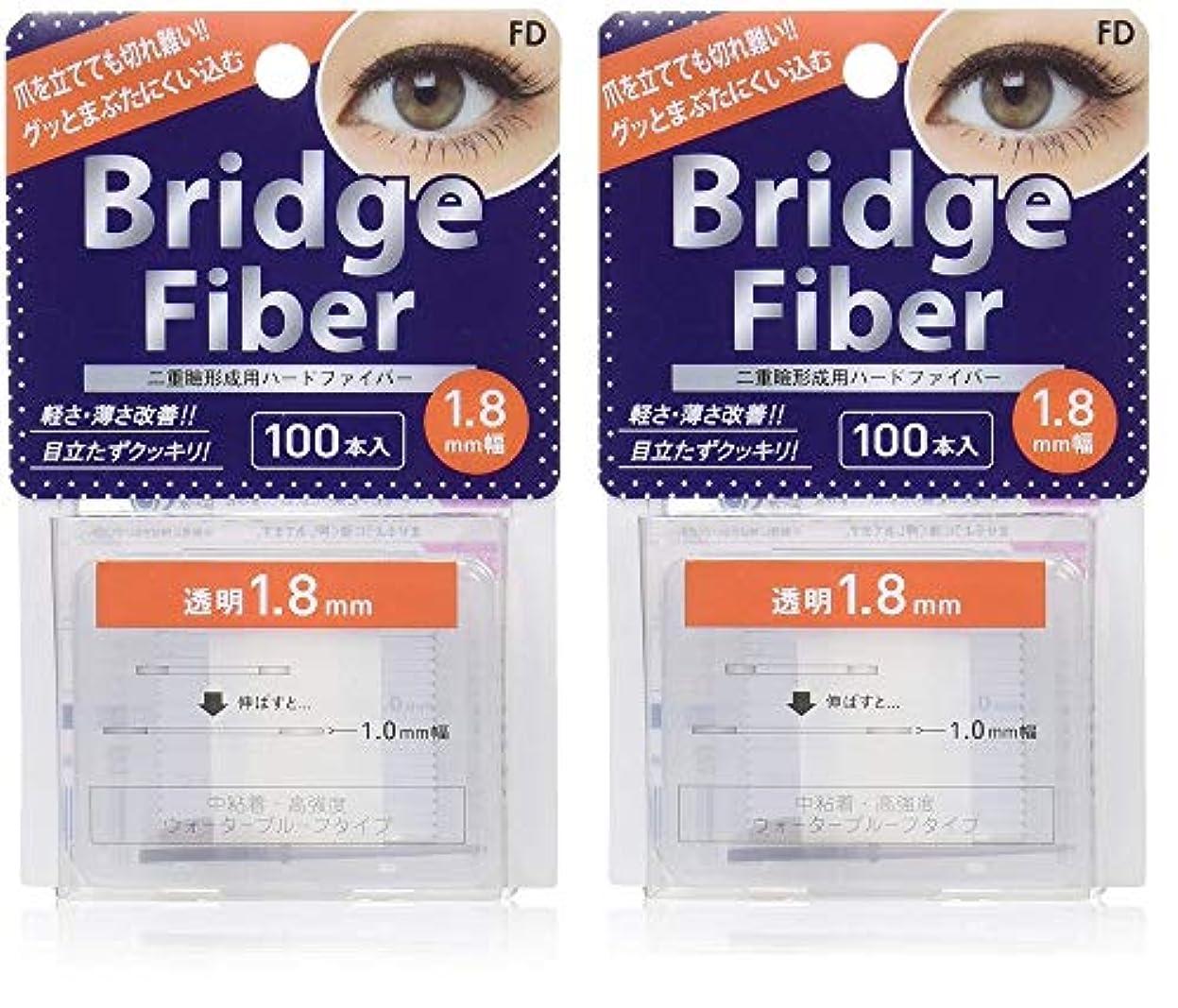 ボトルネックそして美的FD ブリッジファイバーII (眼瞼下垂防止テープ) 透明 1.8mm×2個セット