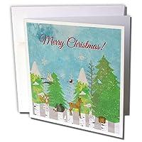 ビバリーターナークリスマスデザイン–ウッドランドクリスマス、鹿、フォックス、Woodchuck、フクロウ、鳥、バニー、Squirrel–グリーティングカード Set of 12 Greeting Cards