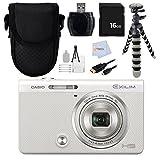 Casio Exilim EX - ex-zr50(ホワイト) ex-zr50we High Speedデジタルカメラ–インターナショナルバージョン保証(no) + 16GBメモリカ..