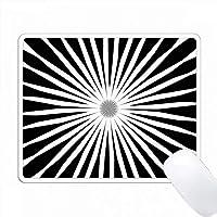 スターバースト白黒パターン PC Mouse Pad パソコン マウスパッド