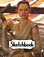 Sketchbook: The Last Jedi Duo Blank Sheets Sketchbook Star Wars Gifts Series Movies Soft Glossy with Blank Lined Paper for Taking Notes Writing Workbook for Teens and Children Students School Kids Inexpensive Gift For Boys and Girls