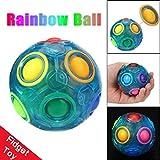 魔法 夜光可能 レインボーボール パズルキューブ スピードキューブ ストレス解消 知育おもちゃ 集中力を向上 子供と大人用  プレゼント