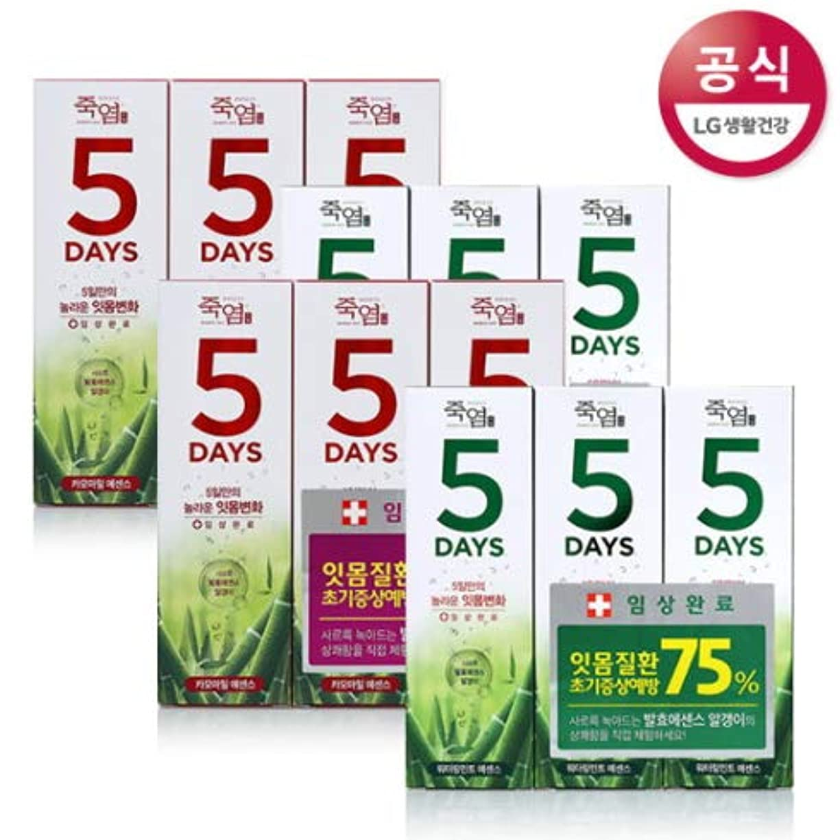 主張する肉屋角度[LG HnB] Bamboo Salt 5days Toothpaste /竹塩5days歯磨き粉 100gx12個(海外直送品)
