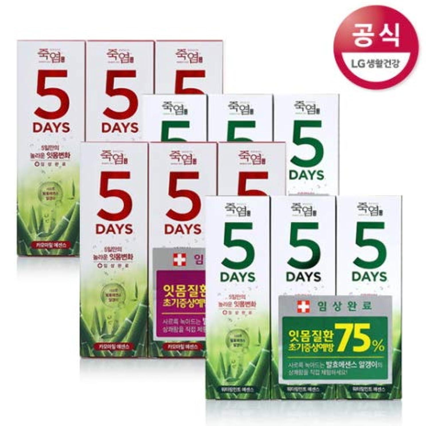 周囲図書館損傷[LG HnB] Bamboo Salt 5days Toothpaste /竹塩5days歯磨き粉 100gx12個(海外直送品)