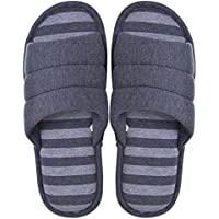 Memorygou Cozy Womens/Mens Home Slippers, Memory Foam Casual Indoor Outdoor Shoes with Open-Toe, Synthetic, Grey, US 9-10