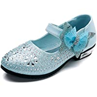 Little Girl's Princess Shoes Mary Jane Wedding Glitter Dance Party Shoes Low Heels