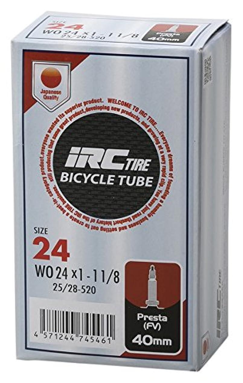 新年グリルネーピアIRC BICYCLE TUBE WO 25-520 ? 24X1-1,1/8 仏式40mmバルブ 28741J