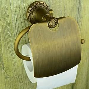 [Neustadt] ヨーロピアンスタイル アンティーク風 真鍮製 ブロンズカラー 重厚感のある  トイレットペーパーホルダー