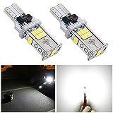 NAKOBO T16 T15 W16W LED バックランプ 爆光 キャンセラー内蔵 バックランプ 10-30V 10連3020SMD 無極性 後退灯 バックライト 1年保証/ホワイト(2個入り)