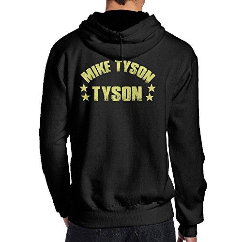 Sisiba シシバ おとな 男の子 パーカー 後ろ印刷 今季最新 マイクタイソン アメリカ プロボクサー 英字 プリント スウェット トレーニング 大人気 Black